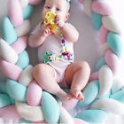 2M/6M Infant Plush Crib Bumper Bed Bedding Cot Braid Pillows Pad Protector DIY