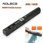 Aoleca Portable Scanner 900DPI Handheld Mobile Document Portable Scanner 8G /16G