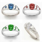 925 Silver Butterfly White Topaz Band Ring Women Jewelry Wedding Gift Size 5-11