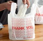 THANK YOU To Go Bags 22' x 12' x 6 1/2' White Plastic Shopping Bags 1/6 Bags