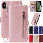 For Iphone 6s 8 Plus 7 Xr Xs 11 Pro Max Case Leather Wallet Zipper Flip Cover
