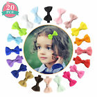 20-40 Colors/Set Ribbon 2inch Hair Bows Alligator Clips for Girls Toddlers Teens