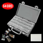 64 Grid Diamond Embroidery Painting Tools Plastic Jewelry Bead Drill Storage Box