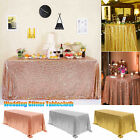 Rectangle Sequin Glitter Tablecloth Sparkly Table Cloth Cover Wedding Party US
