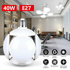 4500LM E27 Deformable LED Garage Football Light Adjustable Shop Ceiling UFO Lamp