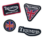 Triumph Motorcycles Biker Rocker badges Iron Sew On Embroidered Patches £1.99 GBP on eBay