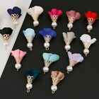Kyпить 10pcs 30mm Tassel Flower Pearl Charms Pendant DIY Earrings Jewelry Findings на еВаy.соm