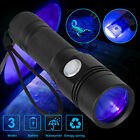 395nm LED UV Light USB Rechargeable Tactical Flashlight 18650 Blacklight Torch