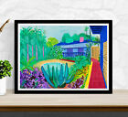 David Hockney Poster Print - Garden - Wall Art Decor - Various Sizes #Charity
