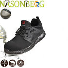 NASONBERG Mens Work Safety Shoes Indestructible Steel Toe Boots Sneakers Shoes