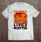 Squirrel Lives Matter Vintage T-Shirts Gift Tee size M-3XL US Men's Shirt Trend image