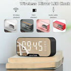 Wireless Speaker LCD Display Digital Alarm Clock FM Radio Dual USB Charging Best