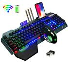 Wireless Rechargeable Keyboard Mouse Set 3800mAh Large Capacity  Rainbow Backlit