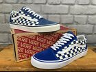 VANS OLD SKOOL UNISEX BLUE NAVY WHITE TRAINERS LADIES MENS MANY SIZES T