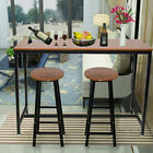 Outdoor Patio Bar Set Wood Top Table Stool Coffee Table Chair Garden Furniture