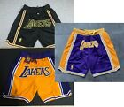 Los Angeles Lakers Black Yellow Royal Shorts All Stitched on eBay
