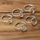 Jewelry DIY  Accessories Adjustable 925 Sterling Silver Women Finger Ring Base