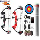 """Compound Bow Archery Set Arrows Hunting 19""""-28""""Right Hand Teens Practice Hunting"""
