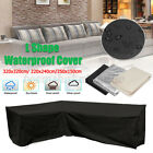 Au L Shape Sofa Outdoor Waterproof Garden Yard Furniture Cover Rattan Pad