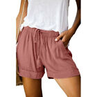 Plus Size Women's Summer Elastic Waist Shorts Ladies Baggy Shorts Trousers Pants