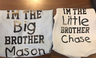 matching Big little Brother shirt set personalize sibling shirt custom tee names