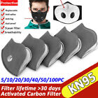 Reusable Mask Filter Pad Activated Carbon Filter Pad Particle Purify Respirator
