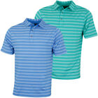 Bobby Jones Mens XH20 Mixed Tone Stripe Jersey Golf Polo Shirt 59% OFF RRP