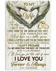 Husband To My Wife I Love You Forever And Always Satin Portrait Poster