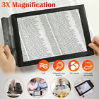 Magnifier Book Reading Aid Lens Large 3X Magnifying Glass A4 Full Sheet Page US