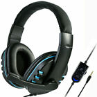 3.5mm Gaming Headset Headphones With Mic for PC Laptop PS4 Xbox One Switch Black