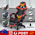 Office Home Gaming Chair Office Executive Racing Seat Pu Leather W/ Footrest )
