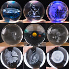 6cm 8cm Transparent inter-carven 3D Crystal Ball Big Marble Home Decorate Gift