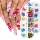 Nail Dry Flowers Mixed Foil Sequins Rhinestones Jewelry DIY Nails Art Decoration