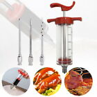 Marinade Injector Flavor Syringe Cooking Meat Poultry Turkey Chicken BBQ Tools ~