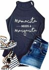 Mamacita Needs A Margarita Tank Top Women Round Neck Sleeveless Funny Tshirt Ves