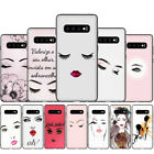 Eyelash Makeup Lip Soft Silicone Phone Case for Samsung S7 S8 S9 S10 S20 Plus