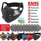 Unisex Outdoor Anti-fog Cycling Sports Masks & Breathing Valves Mouth-muffle Us