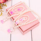 Children Princess For Kids Girl Pink Candy Color Beads Necklace Jewelry Gift