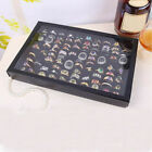 2X 100 Slot Jewelry Ring Tray Rings Holder Showcase Display Storage Box W/Lid