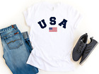 Mens Short sleeve casual USA T shirt American Flag Unisex Mens Graphic Tees