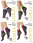 Lores Italiano Nailon Calcetines Gepunktetet 4 Colores One Size-Gr.36-41
