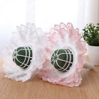 With Lace Trim Bridal Bouquet Holder Party Flower Mud Decoration Wedding Plastic