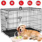Dog Cage Puppy Pet Crate Carrier - Small Medium Large S M L XL XXL Metal 6 Sizes