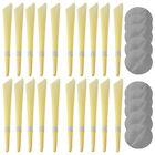 4-20Pcs Earwax Candles Ear Candling Hollow Blend Cone Beeswax Cleaning Massage