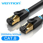 Vention Cat8 SFTP High Speed Ethernet Cable with RJ45 Connector for Router Modem