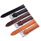 12mm-24mm Black Brown Crocodile Pattern Band Women Men Leather Watch Strap Belts