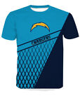 Los Angeles Chargers Football T-Shirt Sport Summer Short Sleeve Casual Tee Shirt $25.35 CAD on eBay