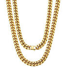 Fashion Miami Cuban Chain Mens Womens Necklace Jewelry Stainless Steel Bracelet