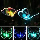 Solar Powered LED Butterfly Fairy String Lights Lamp Outdoor Garden Bulb