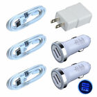 3ft Micro USB Cable & Car Charger USB Cable Wall Charger for Samsung Galaxy US